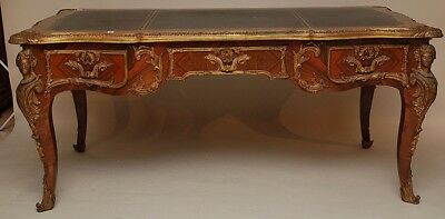 A magnificent French Louis XV style Bronze Mounted Bureau Plat, Desk