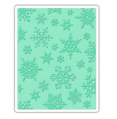 Sizzix Texture Fades Embossing Folder Simple Snowflakes 662432 Tim Holtz