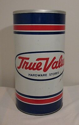 Vintage TRUE VALUE HARDWARE STORES ~ Metal Ashtray Trash Can P&K Products