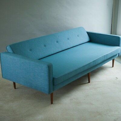 Mid century 3 seater Sofa & daybed Danish 1960s, with solid teak legs