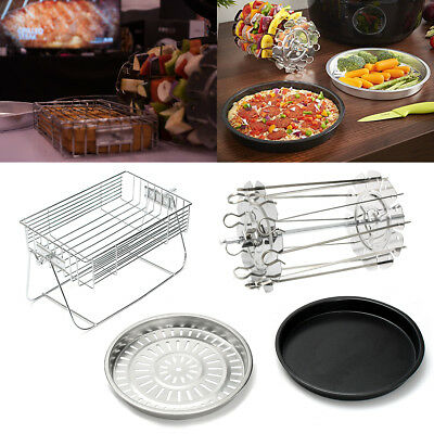 Replacement Air Fryer Frying Chips Cage Dish Baking Pan Rack Mesh Tray Assorted