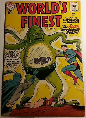 World's Finest #110 DC Silver Age Comic (Green Arrow Back-Up)
