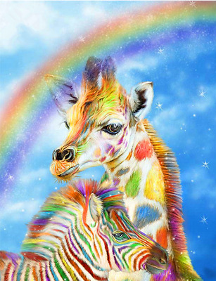 5D DIY Diamond Painting Embroidery Cross Stitch Decor 20*30cm S4 E152 Giraffe AU