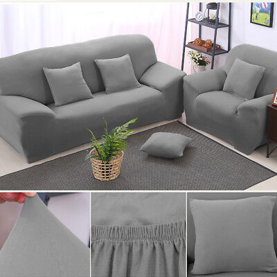 AU 1 2 3 seater Stretch Fit Sofa Cover Lounge Couch Removable Slipcover Washable
