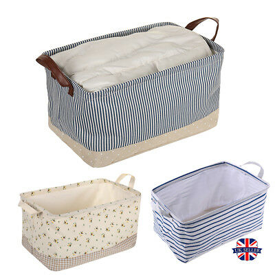 Foldable Square Fabric Storage Baskets Box Drawer Toys Books Clothes Organiser