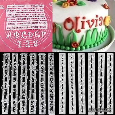 Alphabet Number Letter Cake Decorating Cutter Set Fondant Cake Mould 6 Piece