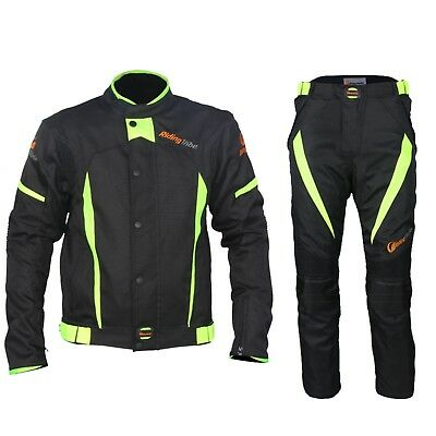 Motorcycle Jacket Pants Suit Warm Waterproof Men Reflective Strip Racing Winter