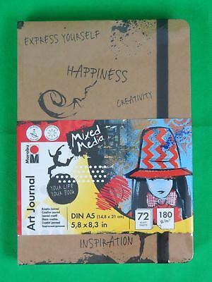 Marabu Notizbuch Art Journal DIN A5 180 g/qm 72 Blatt