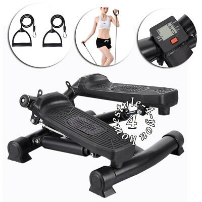 Aerobic Exercise Mini Stepper Machine Workout Fitness Air Stair Climber Arm Cord