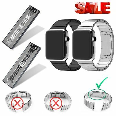 Caloics Stainless Steel Watch Band Wrist Bracelet Clasp For Apple iWatch 42mm