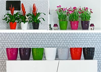 Indoor Outdoor Plastic Plant Flower Pot Garden Home Decor Wedding Square Crystal