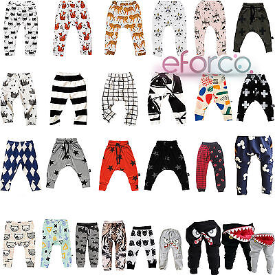 Baby Kid Boy Girl Trouser Bottoms Toddler Legging Sweat Harem Pants 0-7 Years