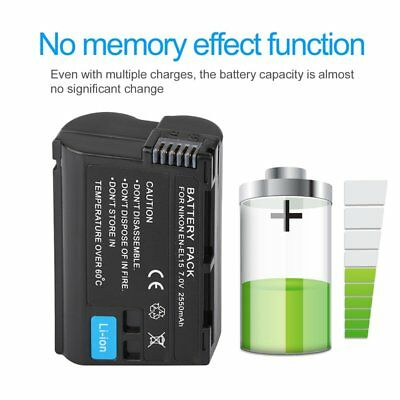 EN-EL15 7V 2550MAH Rechargeable Li-ion Battery Suitable For Nikon D7000 D800 AU