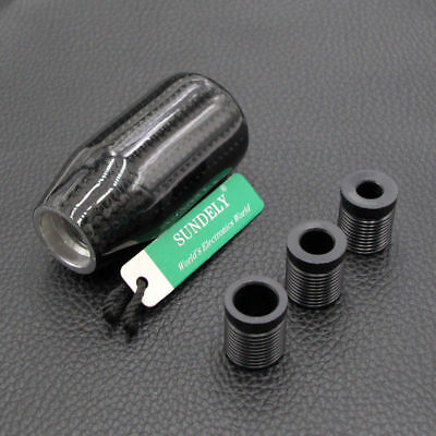 Black Carbon Fiber Ball Gear Shift Shifter Knob For Manual Transmission Stick UK