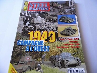 Steel Masters Hors-Serie Issue 5 -1940 Campagne   Military/ Wargaming Magazine
