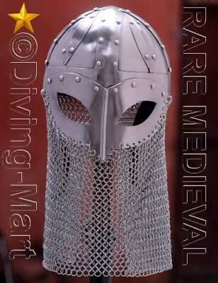 Medieval Armour Closed Viking Helmet With Chainmail Mt464
