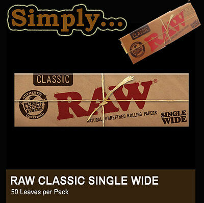 Rolling Papers - Raw Single Wide -50 per Pk -Reduced Shipping on Multiple Orders