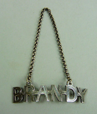 Victorian Antique Silver Plated Brandy Decanter Label