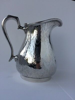 Arts and Crafts Victorian William Hutton And Sons Silver Plated Milk Jug