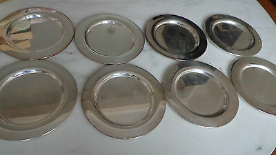 """Oneida Silversmiths 6"""" Silverplate Place Plate Set, #06-6168  8 Pieces orig. box"""