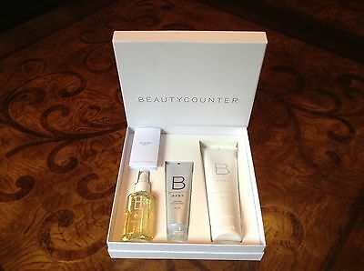 NEW! Beauty Counter Welcome Baby Bath Gift Set. Body/hair wash, oil & lotion