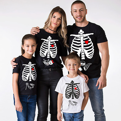 1103777f97a8a Halloween Maternity T-shirts Baby Girl Matching Family Skeleton Shirts