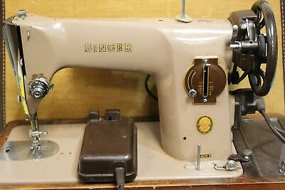 SINGER Heavy Duty 201K Electric Sewing Machine with Case - 250