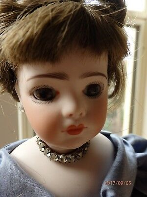 reproduction Antique doll French Bru Jne 41cms artist made by the late Roma Day
