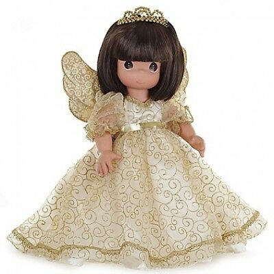Precious Moments 12-Inch Angelic Whispers from Heaven Doll with Brunette Hair
