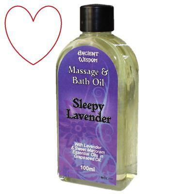 massage oil essential aromatherapy lavender body stress relaxing