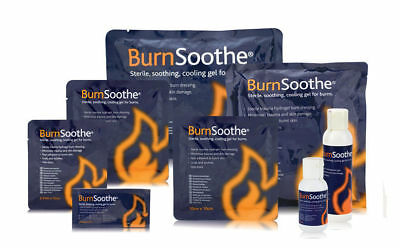 BurnSoothe. Sterile, soothing, cooling gel for burns. Various dressing sizes