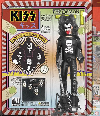 "KISS 8"" Action Figure ""The Demon"" Hotter Than Hell BLOODY Variant Gene Simmons"