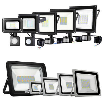 LED Floodlight PIR Sensor lamp 10W 20W 30W 50W 100W 150W 200W 300W Flood light