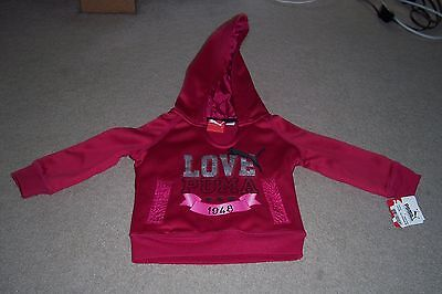 Girl's Puma Love Long Sleeve Pullover Hoodie (Size 2T) BRAND NEW WITH TAGS!!!