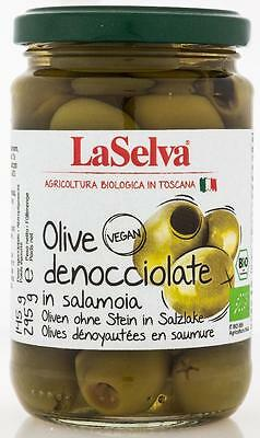 (2,72 €/ 100 g) LaSelva Green Olives without stone in Brine Bio 295g