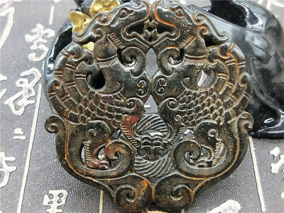 Old China Hand-carved jade pendants worn aristocratic art collection  Q63