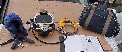 Kirby Morgan Superlite 17B Commercial Diving Helmet with Bag + manual