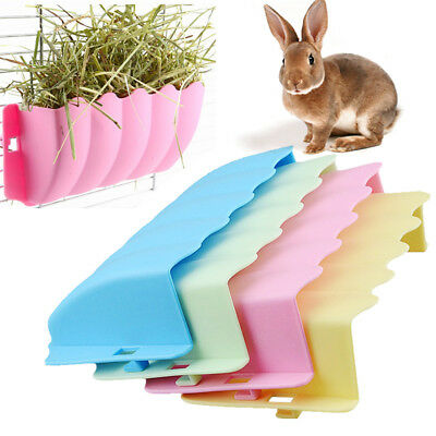 Small Pet Rabbits Guinea Pig Rack Feeder Hay Grass Nesting Holder Bowl Dish
