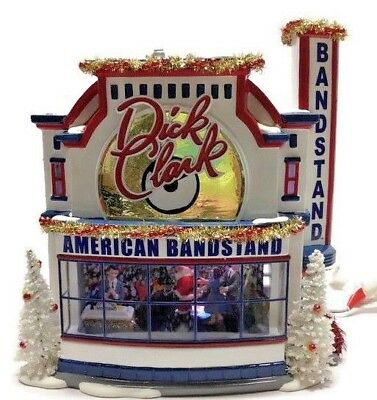 Department 56 Dick Clark Snow Village Musical Animated Bandstand See Video