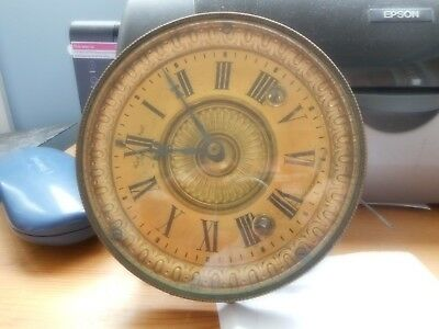 ansonia clock co. usa mechanism with gold colored dial