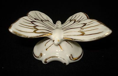 Vtg Royal Dux Butterfly Porcelain Figurine #600 Made In Chechoslovakia