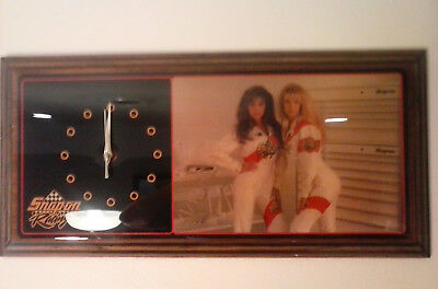 Snap On Tools Wall Clock Sexy Race Car Girls Julie & Michelle in Driving Suits