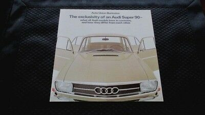 1968 Audi Super 90 Sales Brochure.