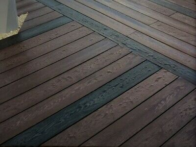 Composite decking in WOOD GRAIN  @ £9.95 per 2.2m length ---- BEST VALUE IN UK