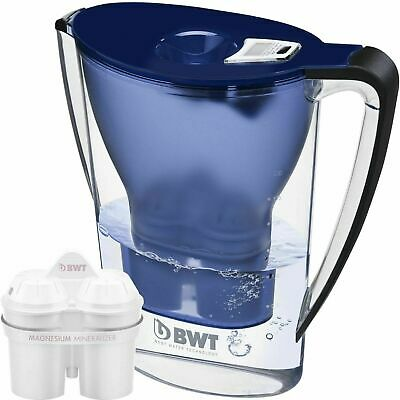 BWT Water Filter Jug 2.7L Blue with 1 x Magnesium Mg2+ Longlife 120L Cartridge