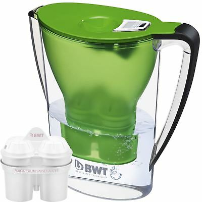 BWT Water Filter Jug 2.7L Green with 1 x Magnesium Mg2+ Longlife 120L Cartridge