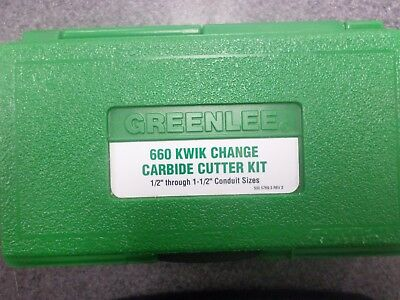"""Greenlee 660 Quick Change Stainless Steel Carbide Tip Hole Cutter Kit 7/8"""" - 2"""""""