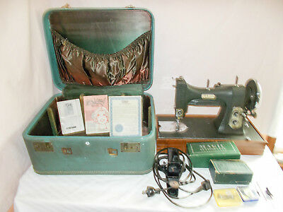 White Rotary Series 77 E-6354 Sewing Machine Vintage Has Attachments In Case