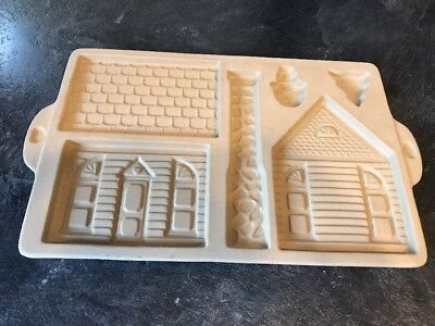 Pampered Chef Stone Gingerbread House Cookie Press Mold