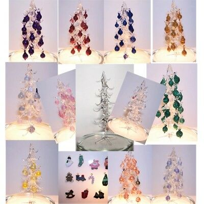Dolls house accessories 12th Scale Glass Christmas Tree and Baubles Hand Made